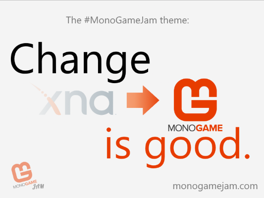 The image showing the theme of the jam, 'Change is Good