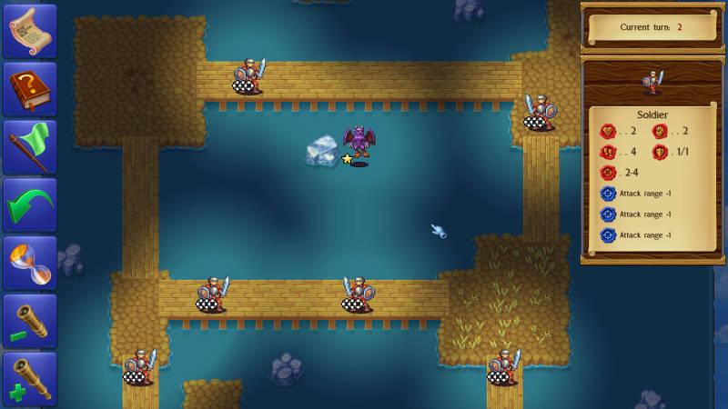 Monstro: Battle Tactics, level with gargoyles