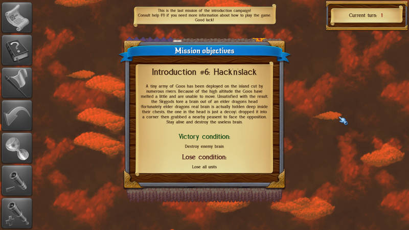 Monstro: Battle Tactics, showing mission description and objectives