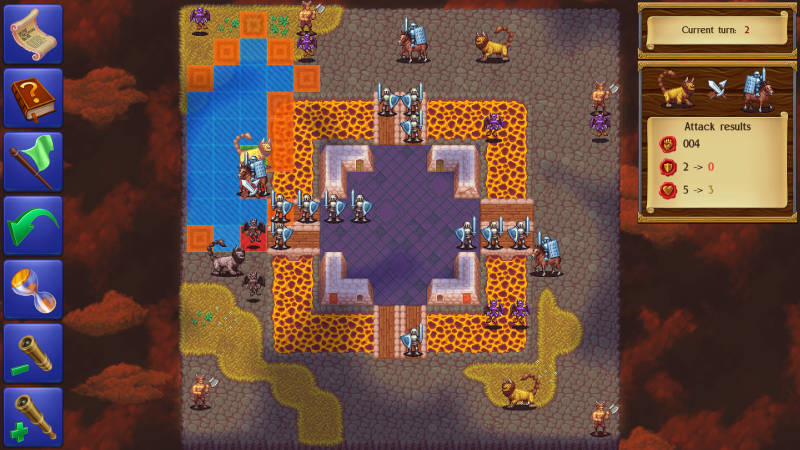 Monstro: Battle Tactics, fighting a mission where the player starts surrounded by enemies