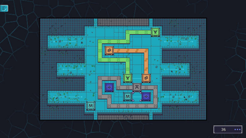 Trans Neuronica screenshot with the first difficult puzzle